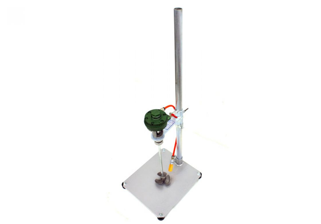Rotary Air Motor Manual Lift Stand